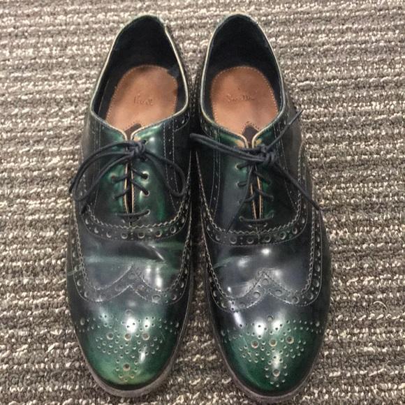 b7d8ae8cc972b Paul Smith - Green Wingtip Dress Shoes Size 7